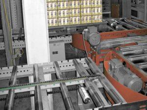 Смазка подшипников пластинчатого конвейра с помощью simalube® 250 мл.